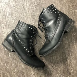 Caterpillar Fueled studded leather Moto boot
